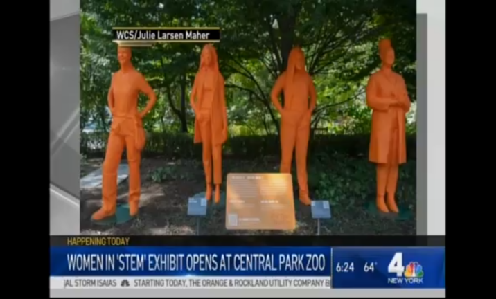 WNBC in New York – Women in STEM Exhibit Opens at Central Park Zoo